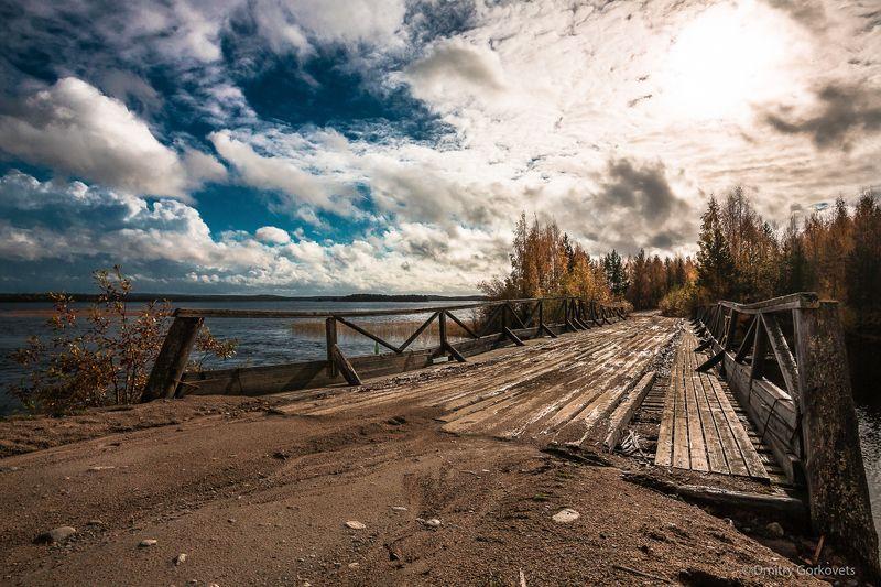 #photobydmitrygorkovets #landscapes #autumn #karelia #russia #bridge Мост на Унутозере. Карелия. Осень 2016. Bridge. Unut lake. Karelia. Russia. Autumn 2016.photo preview