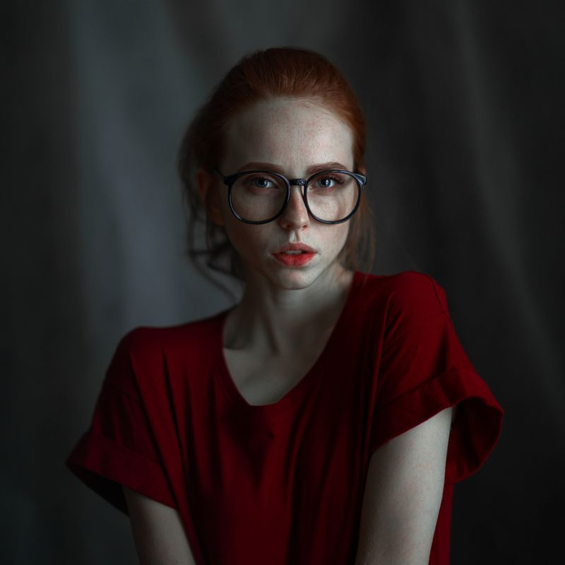 portait girl model eyes redhead freckles веснушки очки рыжая bokeh glasses Katiephoto preview