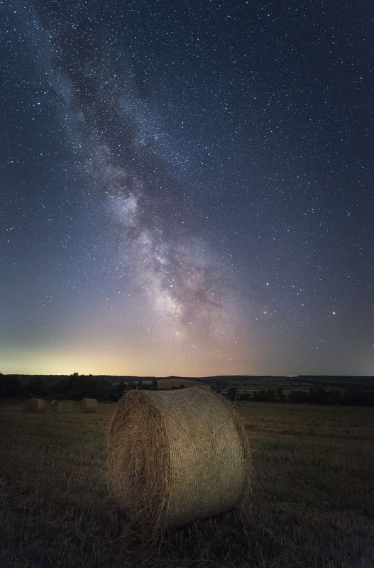 Summer starry night in the fieldphoto preview