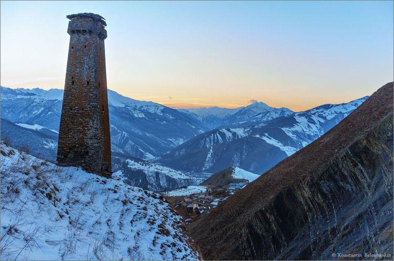 кавказ, горы, чечня, боевая, башня, сторожевая, шула Вайнахская сторожевая башняphoto preview