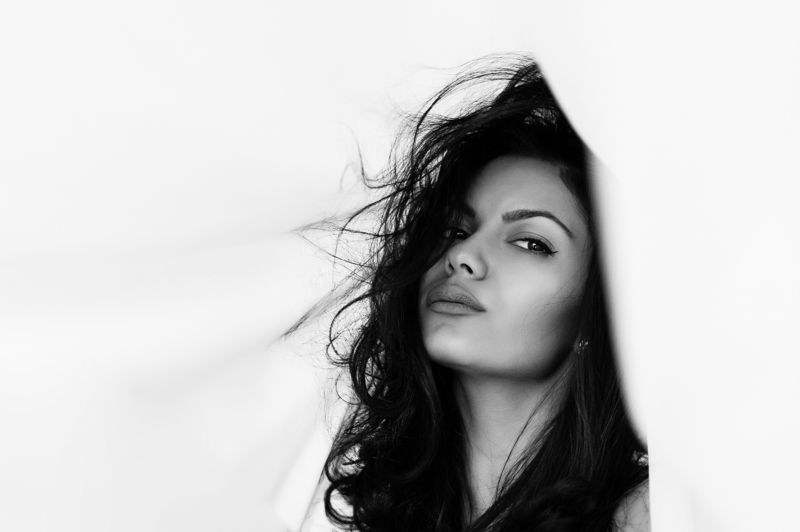 portrait, black and white, bw, beauty, model Ilianaphoto preview