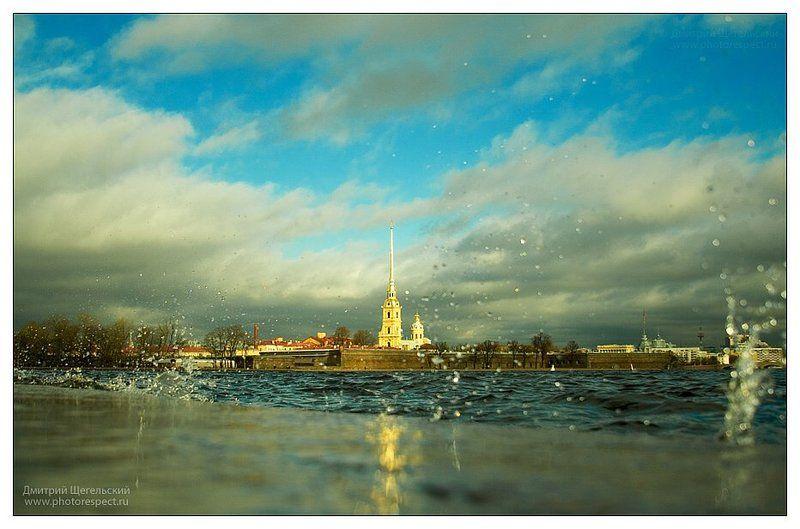 петербург, нева, волны, капли, петропавловка Город над вольной Невойphoto preview