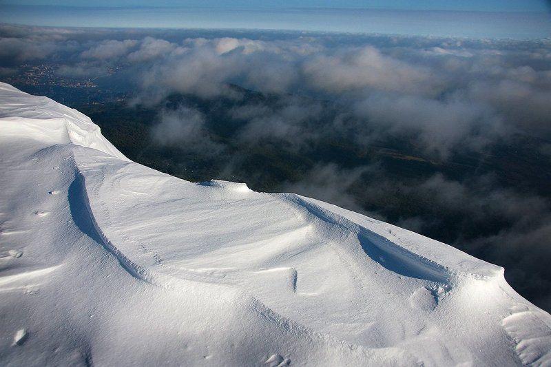 снег, горы, облака, зима Прогулка выше облаковphoto preview
