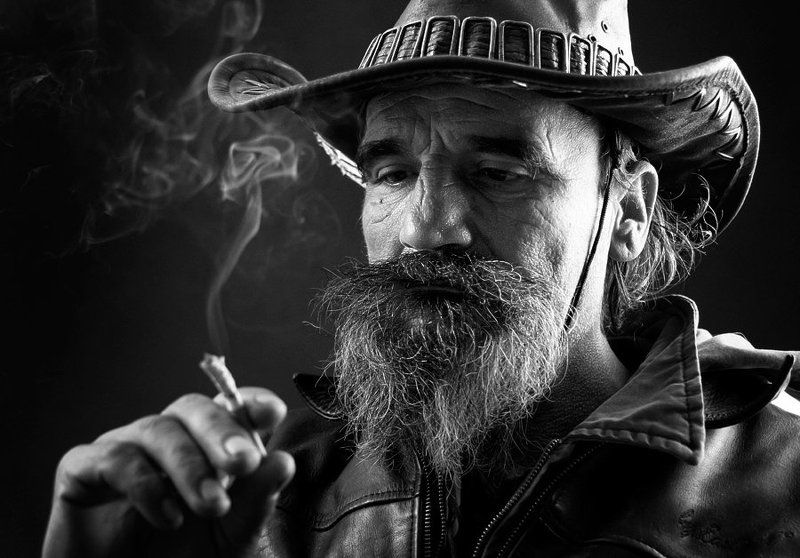 portrait, cowboy, man, The old cowboyphoto preview