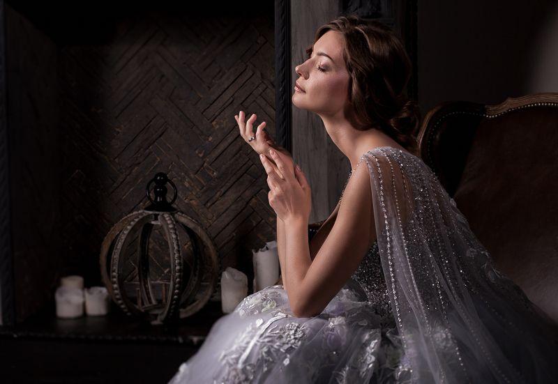 портрет свадебное фото у камина  Оленькаphoto preview