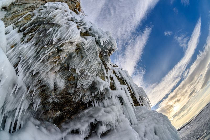 Байкал, зима, лёд Вечер на Байкалеphoto preview