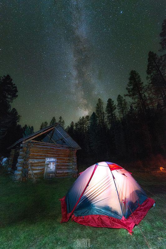 алтай, млечный путь, изба, ночь, звезды, палатка, В избу мы так и не попалиphoto preview