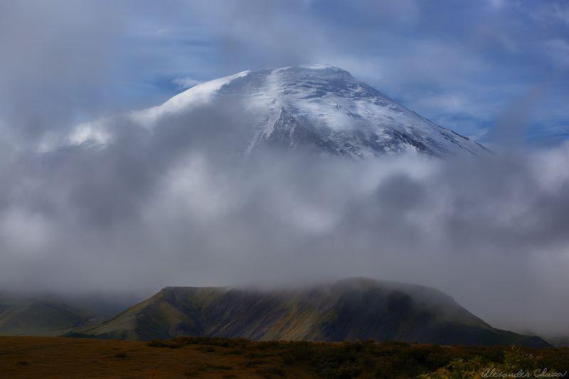камчатка, вулкан, толбачик, облака, утро Утроphoto preview