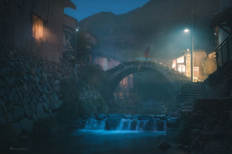 The night in mountain villagephoto preview