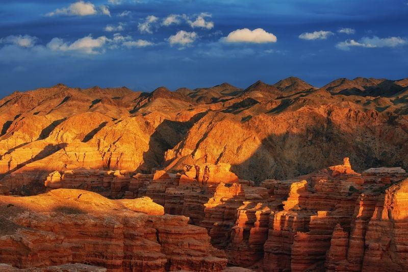 казахстан, чарынский, каньон Чарынский каньон на закате / Казахстанphoto preview