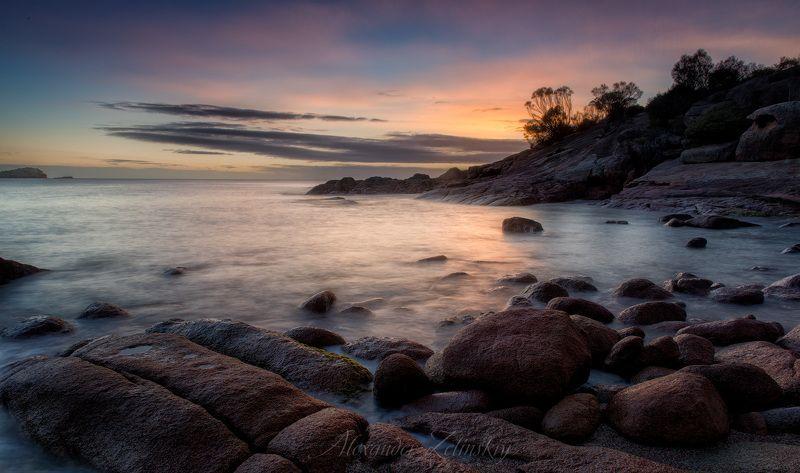 тасмания, рассвет Сонная бухтаphoto preview