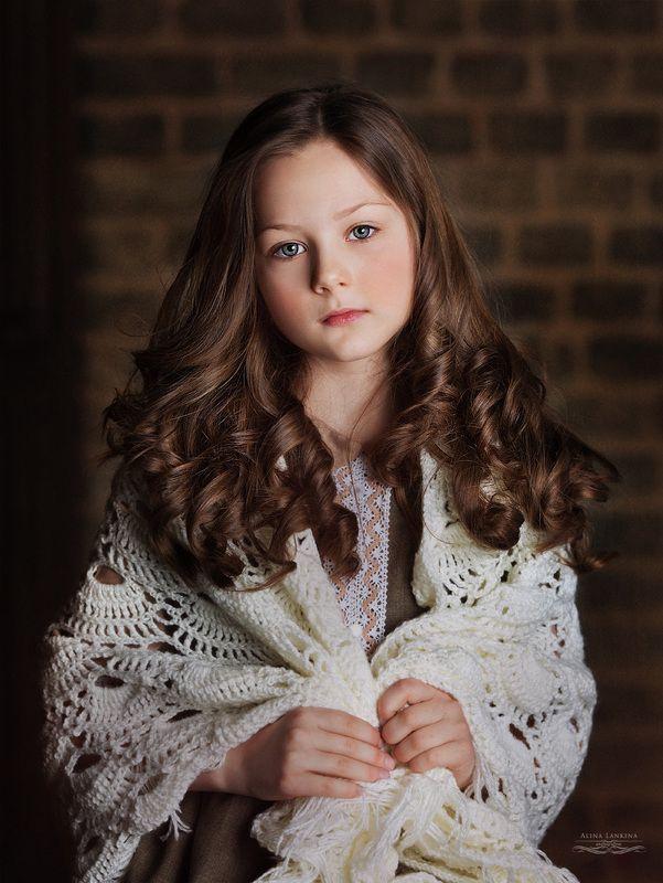 портрет, девочка, глаза, ребенок, ретро, взгляд, алина ланкина ***photo preview