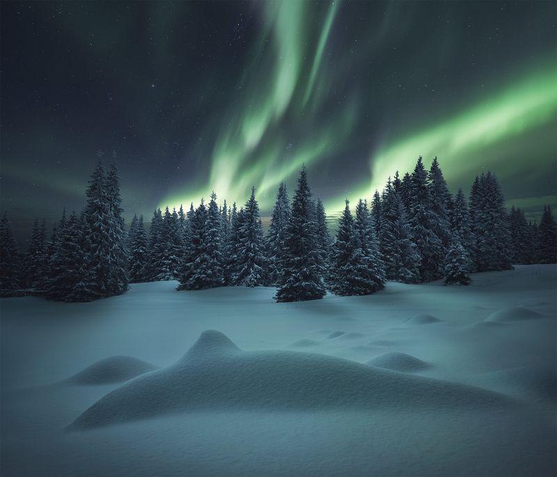 aurora, landscape, nature, пейзаж, природа photo preview