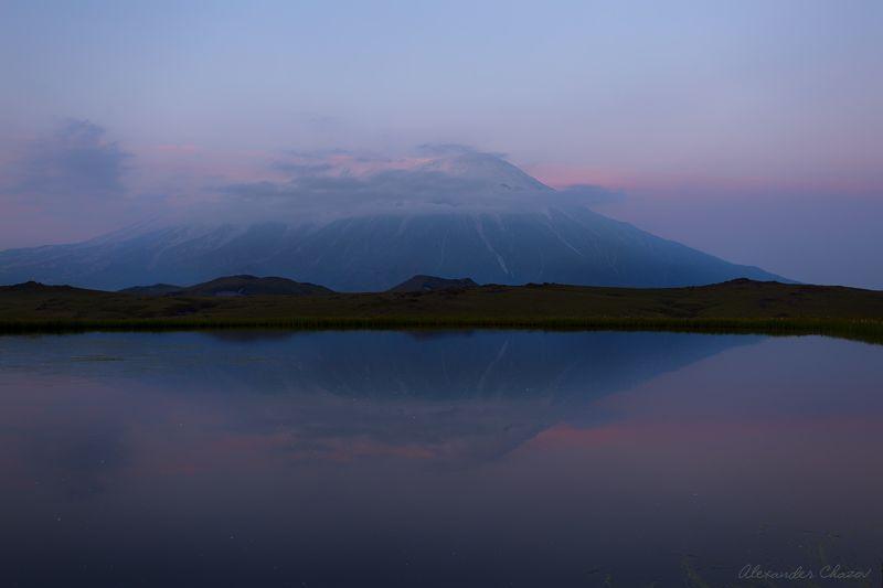 камчатка, вулкан, толбачик, облака, утро Пробуждениеphoto preview
