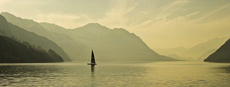 швейцария, озеро, парус, цвет На вкус и цвет...photo preview