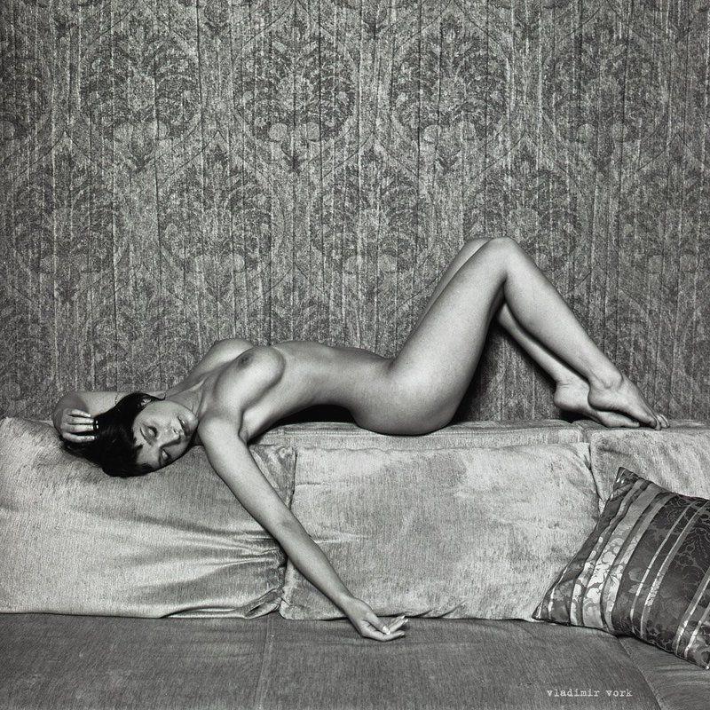 6x6, Art nude, b&w, Fine art, m-format, nu, Vladimirvork, ню ***photo preview