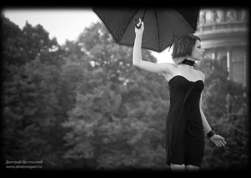 петербург, утро, девушка, зонт, мэри, поппинс ***photo preview