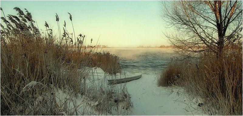 зима, природа, пейзаж, панорама, озеро Одиночество...photo preview