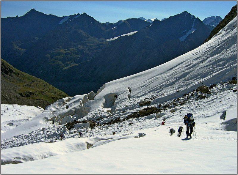 тянь-шань, ледник, перевал, маречека К перевалу...photo preview