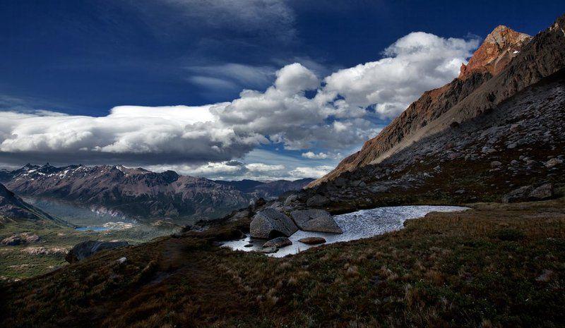 горы, небо, облака, дорога ***photo preview