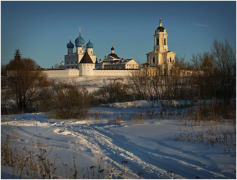 высоцкий, монастырь, серпухов, зима, закат, вечер photo preview