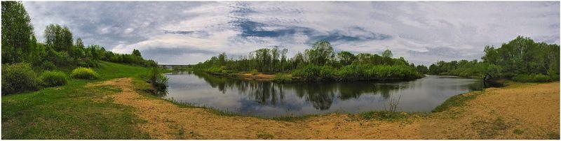 весна, река, природа, пейзаж На извилистой реке Гусь...photo preview