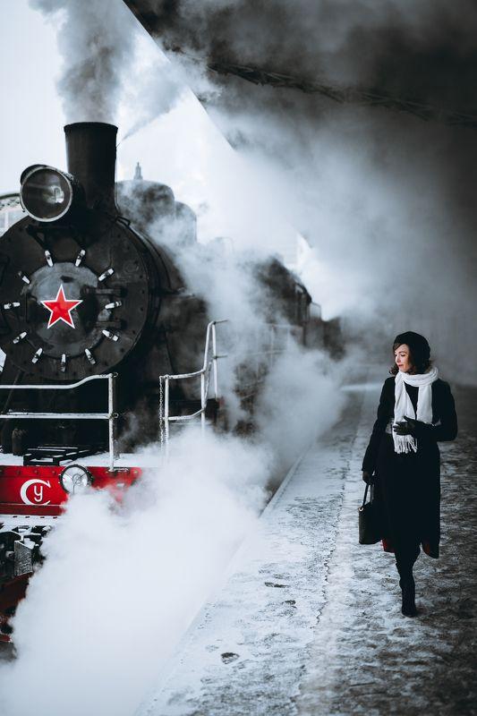 #portrait #girl #girls #snow #winter #city #портрет #девушка #город #зима #снег Паровозphoto preview