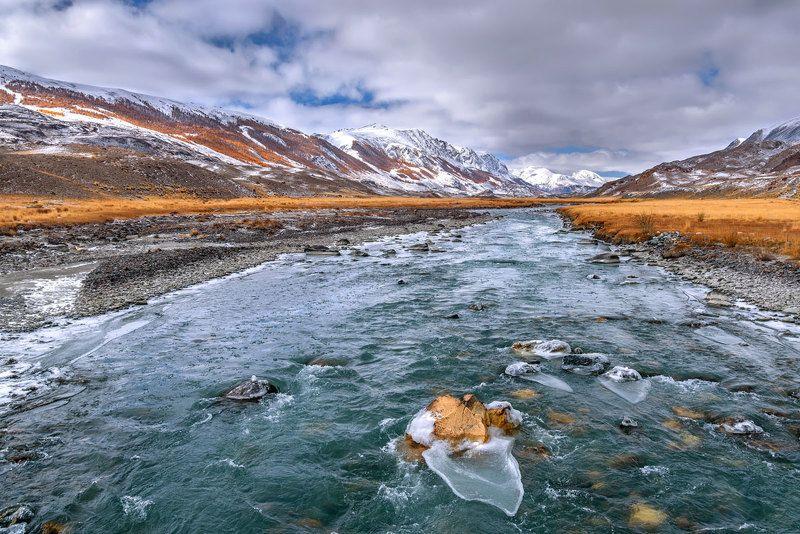 река, осень, вода, алтай, талдура, river, autumn, water, altai Талдураphoto preview