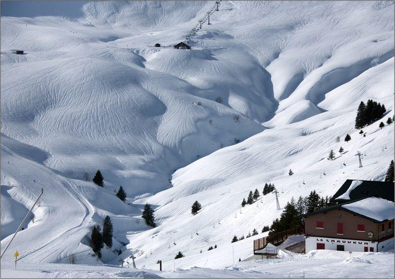 suisse, swiss, crosets, швейцария, крозет, горные, лыжи, альпы, авориаз Складки местностиphoto preview