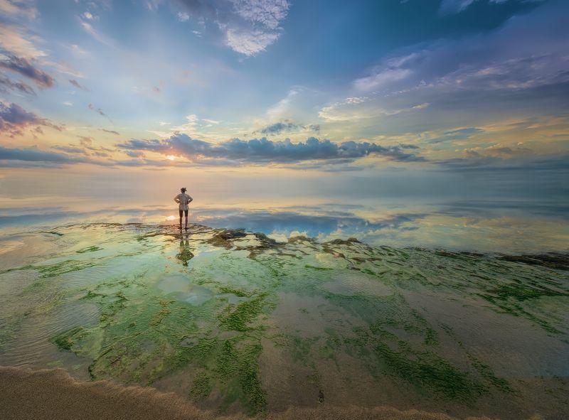 пейзаж,закат,отражение,бали,облака,путешествие,небо, Край цвета...photo preview