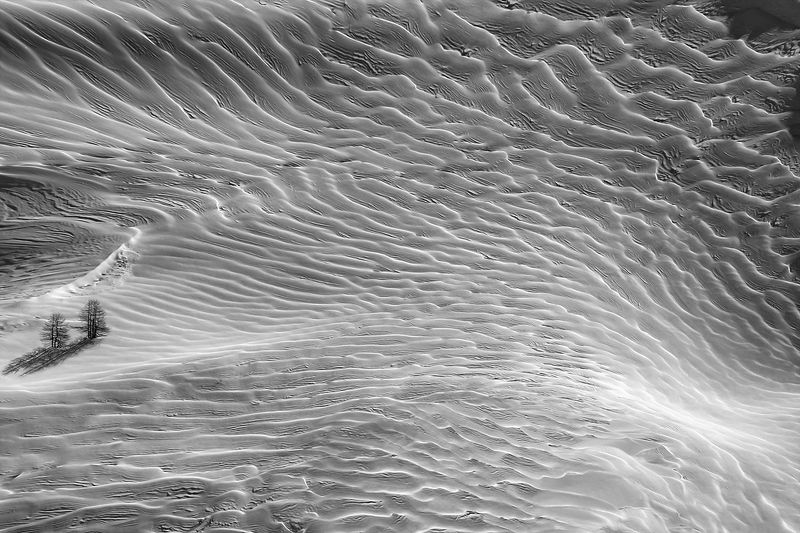 снег, альпы, горы, картина, мазки, ёлка, извилины, объём, горы Картина масломphoto preview
