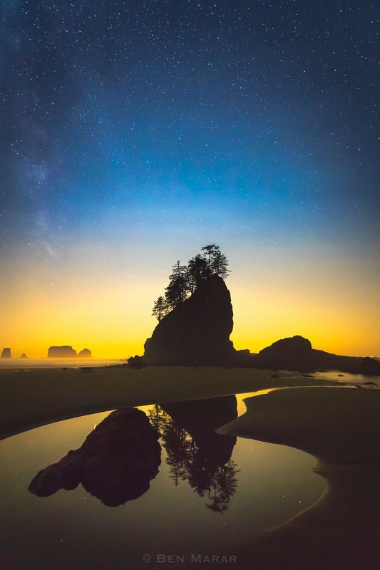 beach stars ocean The darker the night gets  the brighter the stars becomephoto preview