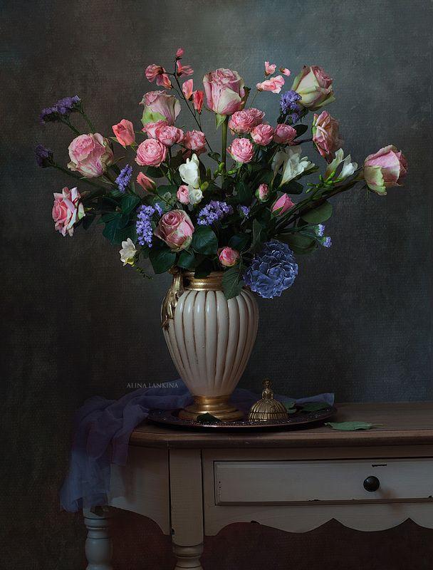 натюрморт, розы, цветы, ваза, алина ланкина ***photo preview