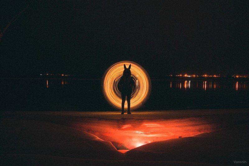 ночь, свет, силуэт, фото, ночное, лёд Ночные рисованияphoto preview