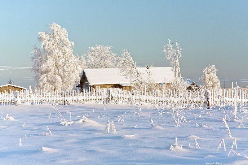 зимняя, сказка Зимне-закатная...photo preview