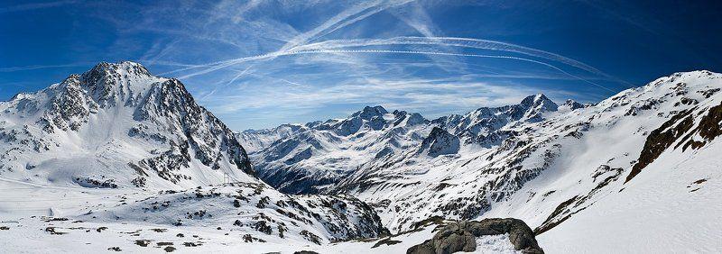 горы, небо, облака, снег ***photo preview