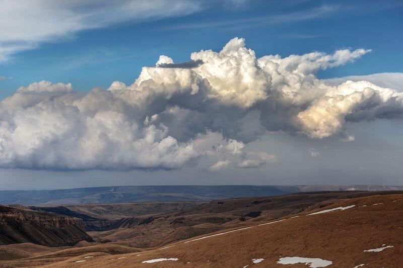 карачаево-черкесия ,кчр ,горы,    перевал  гум-баши ,закат Облака ...photo preview