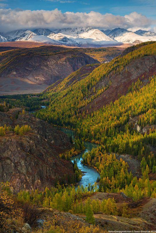 алтай, сибирь, осень, чуя, курайский хребет Алтайская осень. Началоphoto preview