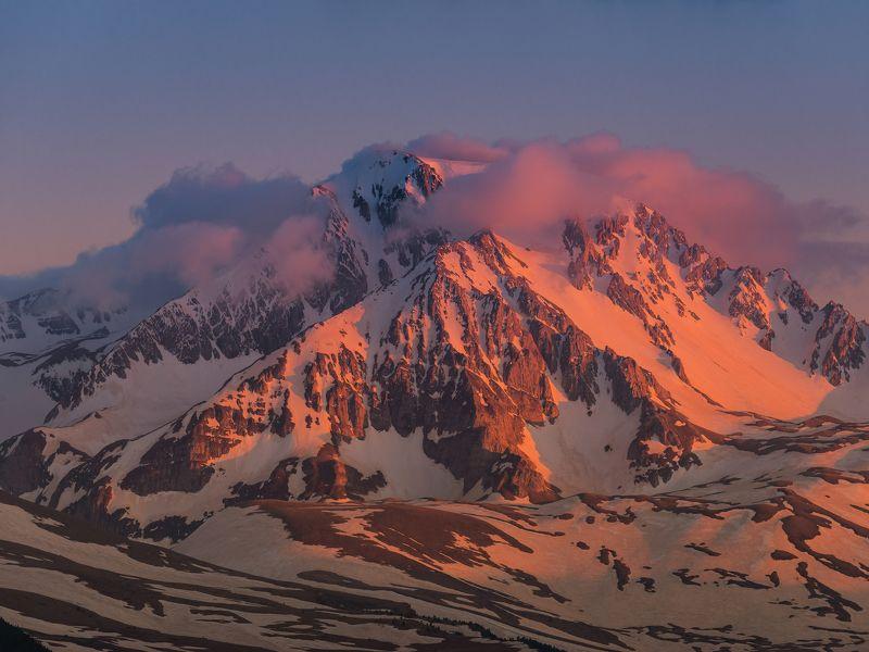 горы, кавказ, оштен, май, 2018, природа, закат ЕГО ВЕЛИЧЕСТВО ОШТЕНphoto preview