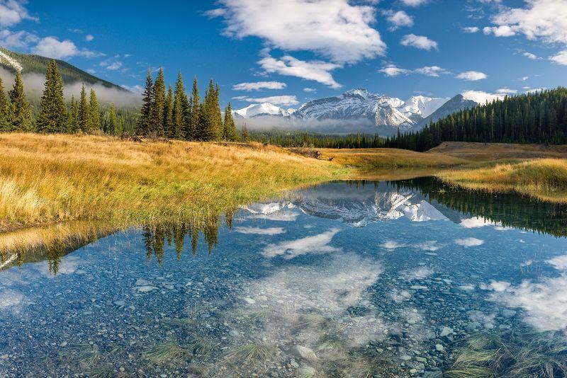 Канада, Скалистые горы, Банф, отражение, пейзаж Утро в Скалистых горахphoto preview