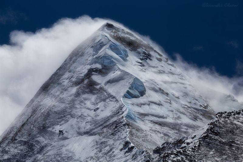 тибет, горы, пейзаж, вершина, облака Буря на вершинеphoto preview