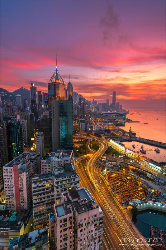 Hong Kong sunsetphoto preview
