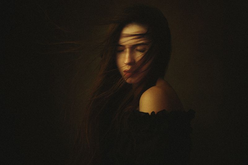портрет, девушка, картина Марияphoto preview