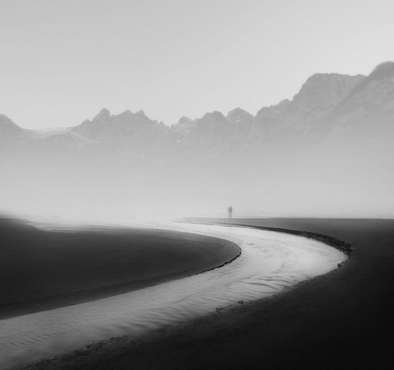 #35photo #black&white #fineart #art To the mountainsphoto preview