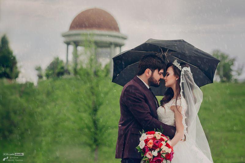 свадебная фотография, жених, невеста, дождь, донецк ***photo preview