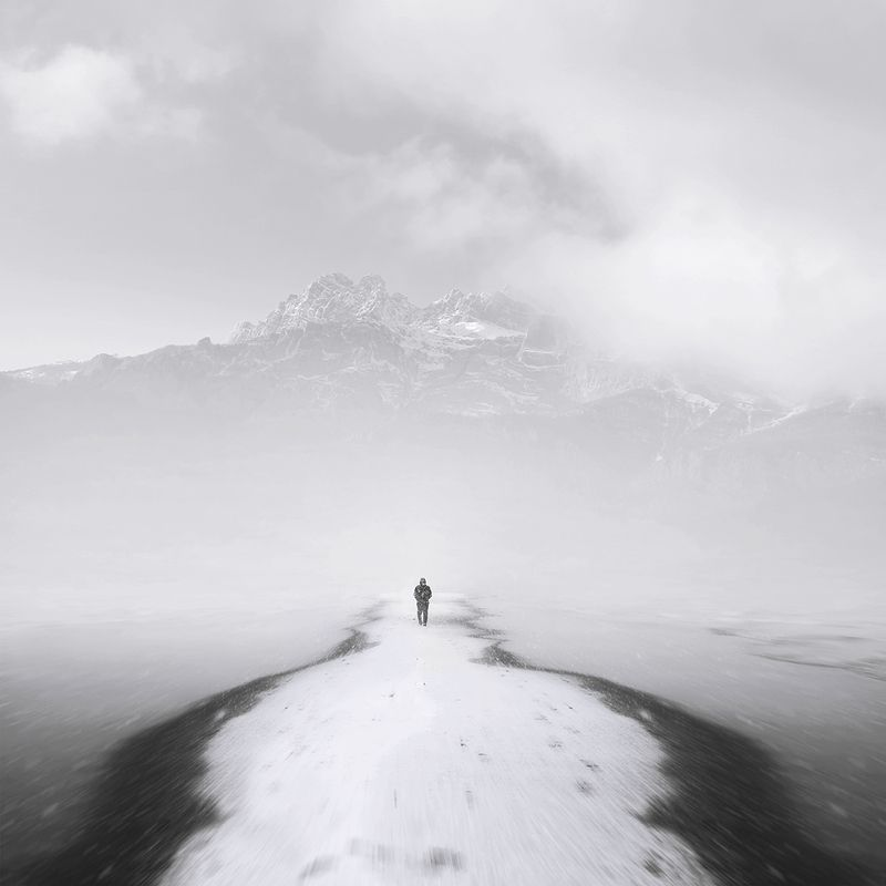#35photo #black&white #fineart #art snowy pathphoto preview