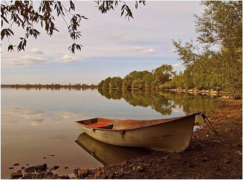 осень, природа, пейзаж, озеро Тихий вечер, наступающей осени...photo preview
