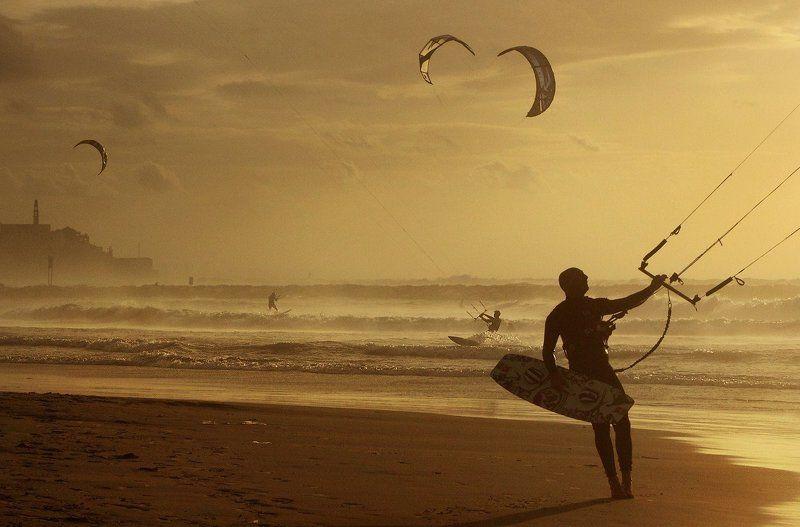 кайтсёрфинг, море, закат, будущее futurephoto preview