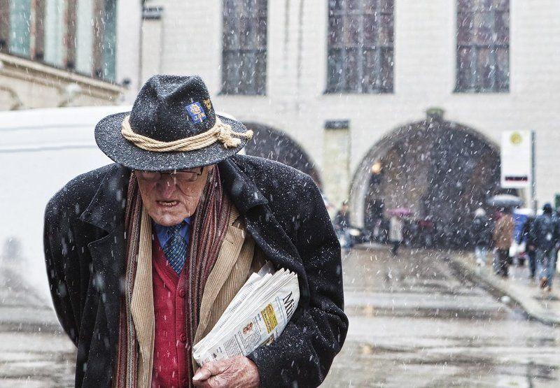 мюнхен, снег, пауль, диттель Последний снег Пауля Диттеля.photo preview