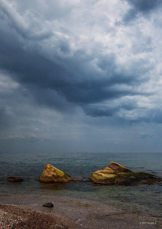 одесса, пляж, море Грозовые облака...photo preview